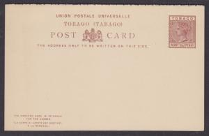 Tobago H&G 2a, 1888 QV 1½p + 1½p reply card, VF