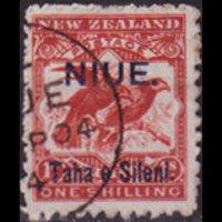 NIUE 1903 - Scott# 13 Kiwi Opt. 1s Used