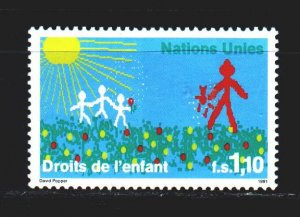 UN Geneva. 1991. 203 from the series. Protecting the rights of children. MNH.