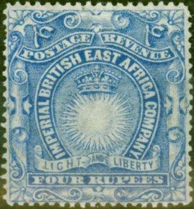 B.E.A KUT 1890 4R Ultramarine SG18 Fine Mtd Mint