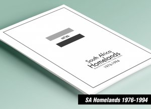 PRINTED SOUTH AFRICA HOMELANDS 1976-1994 STAMP ALBUM PAGES (129 pages)