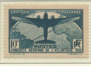 France Stamp Scott #C17, Mint Hinged, Good Centering - Free U.S. Shipping, Fr...