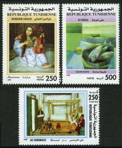 Tunisia 1165-1167, MNH. Paintings, 1998