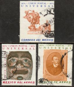MEXICO 1070, C437-C438 Centenary of the Universal Postal Union Used (600)
