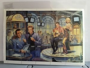 Batum Bogart Elvis Marilyn Monroe  mint never hinged stamp sheet R24482