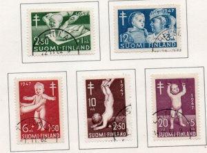 Finland Sc B82-86 1947 TB charity stamp set used