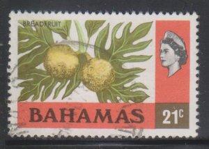 Bahamas,  21c Breadfruit  (SC# 399) Used