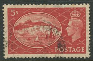 Great Britain -Scott 287 - KGVI - Definitive -1951 - Used - Single  5/-  Stamp