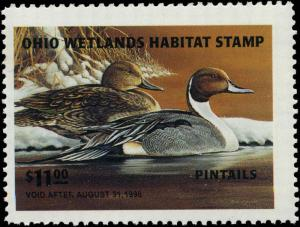 OHIO #14 1995  STATE DUCK STAMP PINTAILS by Ron Kleiber