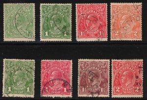 AUSTRALIA - 1900's KGV Various Values
