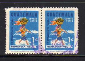 Guatemala C270 Pair Set U  Woman Carying Fruit Basket (C)