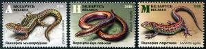 HERRICKSTAMP NEW ISSUES BELARUS Lizards & Snakes