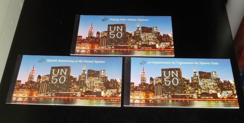 U.N. 1995, 50th ANNIVERSARY, PRESTIGE BOOKLETS MNH, ALL 3 OFFICES  NICE! LQQK!