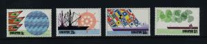 Singapore 225-8 MNH Ships, Flags, Ports & harbors