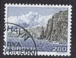 Faroe Islands  #15 1975 used  200 ore