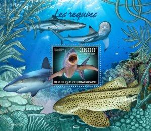 C A R - 2019 - Sharks - Perf Souv Sheet - MNH