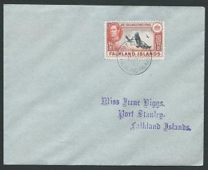FALKLAND IS 1946 GVI 1/3d Vulture on FDC - Port Stanley cds................43913
