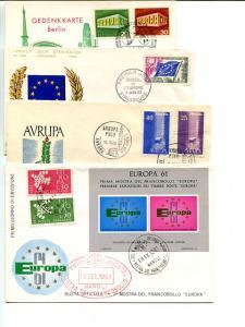 Europa 1958/69  4 FDC unaddressed VF