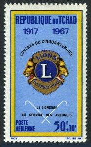 Chad CB4, MI 178, MNH. Lions Intl., 50th anniv. Emblem. Work for the blind, 1967