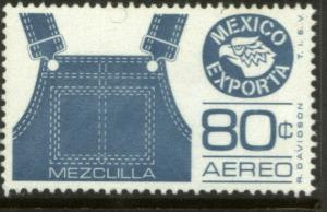 MEXICO Exporta C489 80c Overalls Unwmkd Fosfo Paper 1 NH