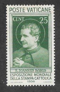Vatican City Scott 49 Mint 25c St. John Bosco stamp 2017 CV $45.00