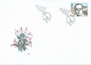 SLOVAKIA/1994, (FDC) Antoine de Saint-Exupery (Writer, The Little Prince), MNH