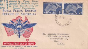 1957, Royal Flying Doctor Service of Australia, FDC (41474)