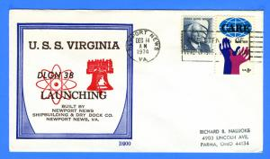 USS Virginia DLGN-34 Launched December 14, 1974 - Beck B900