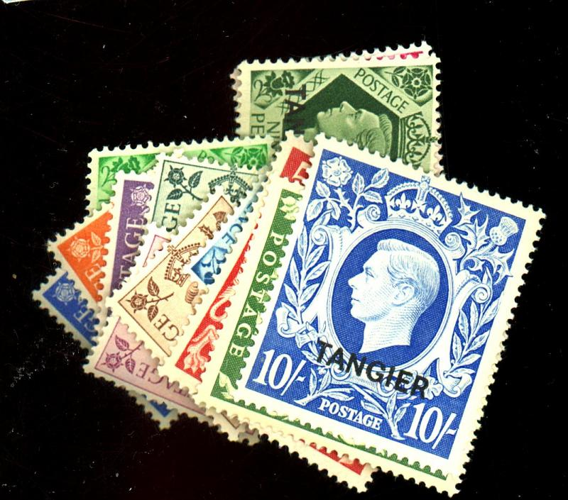 Great Britain Morocco #231-45 MINT F-VF NH Cat$107.7