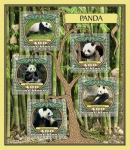 Guinea-Bissau - 2016 Pandas on Stamps - 4 Stamp Sheet - GB16710a