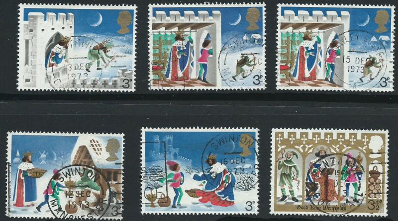 GB QE II  SG 943 - 948 set of 6 VFU lovely Postal cancels