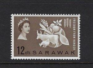 SARAWAK SCOTT #212 1963 FREEDOM FROM HUNGER- MINT NEVER HINGED