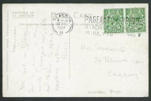 GB SCOTLAND 1924 postcard Glasgow Pageant of Empire slogan cancel..........56079