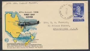 Cover 30th Anniversary Tasman First Flight 1958 SPECIAL - please read details...
