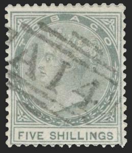 Tobago Scott 5 Gibbons 5 Used Stamp