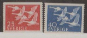 Sweden Scott #492-493 Stamps - Mint NH Set