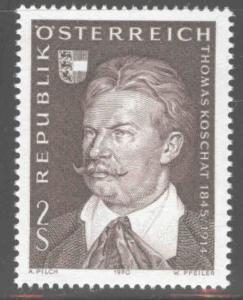 Austria Scott 880 MNH** 1970 Koschat composer stamp