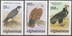 Afghanistan 25afs, 100afs, 150afs Birds MNH (K1125L)