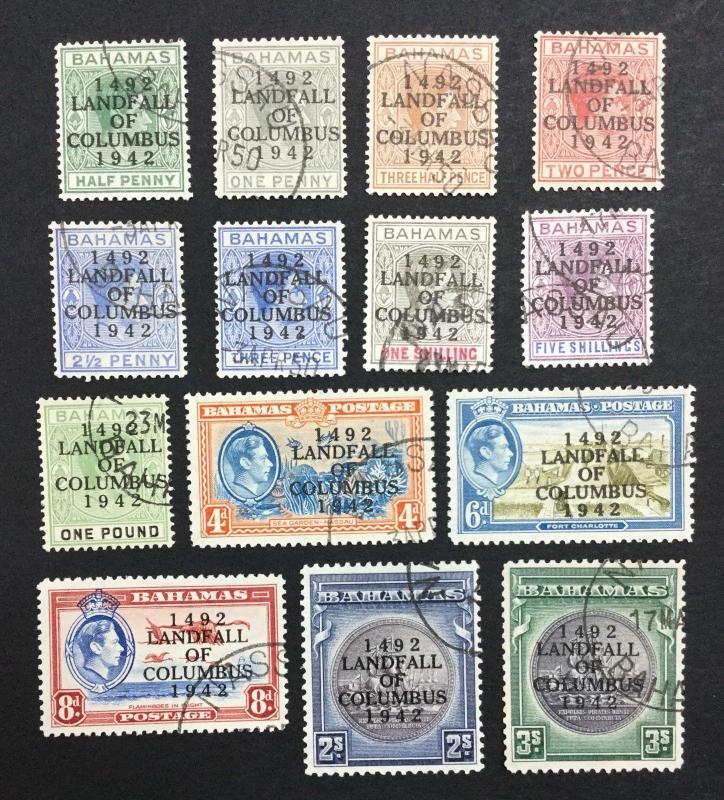 MOMEN: BAHAMAS SG #162-175a USED £65 LOT #1108