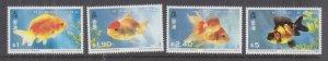 HONG KONG, 1993 Goldfish set of 4, mnh.