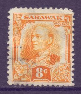 Sarawak Scott 100 - SG97, 1932 Sir Charles Vyner Brooke 8c used