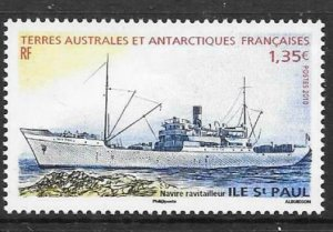 FRENCH SOUTHERN & ANTARCTIC TERRITORIES SG629 2010 SHIPS MNH