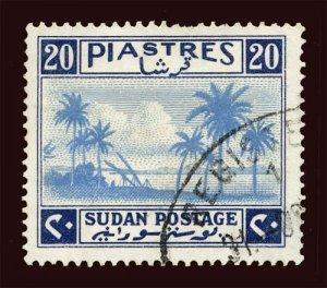 SUDAN Scott #78 (SG 95) 1941 River Nile at Khartoum, used NG HR, perfs