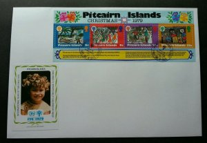 Pitcairn Islands International Year Of The Child  1979 Christmas Painting (FDC)