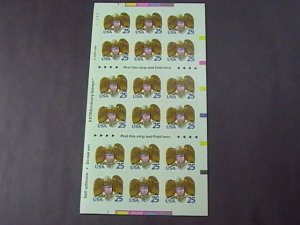 U.S.# 2431a(BC52)-MINT/NEVER HINGED--BOOKLET PANE OF 18--SHIELD & EAGLE--1989