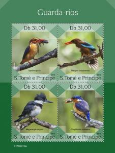 Z08 ST190310a Sao Tome and Principe 2019 Kingfishers MNH ** Postfrisch