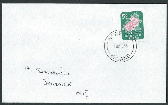 NORFOLK IS 1995 local cover with 5c Lagunaria local stamp..................42782
