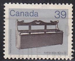 Canada 928 Wooden Settle Bed 1985