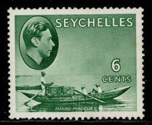 SEYCHELLES GVI SG137c, 6c green, M MINT. Cat £22. CHALKY