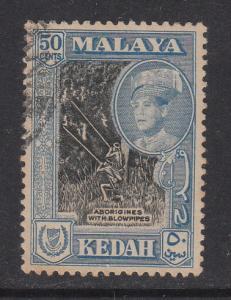 Malaya Kedah 1959 Sc 102 50c Used